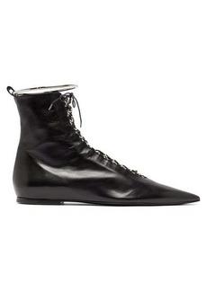 Jil Sander Anklet and ring-eyelet leather boots