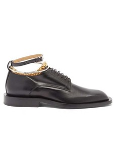 Jil Sander Anklet-chain leather Derby shoes