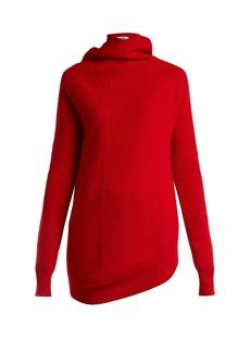 Jil Sander Asymmetric wool and cashmere-blend sweater