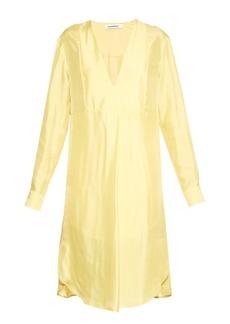 Jil Sander Avocado satin-twill dress