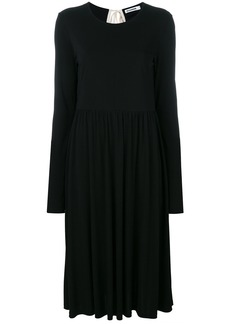 Jil Sander back tie dress - Black