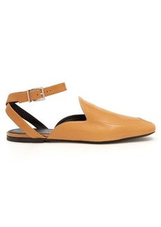 Jil Sander Backless leather loafers