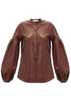Jil Sander Balloon-sleeve leather shirt