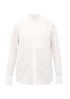 Jil Sander Band-collar cotton-poplin tuxedo shirt