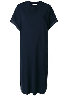 Jil Sander batwing sleeve dress - Blue