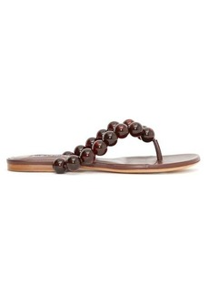 Jil Sander Beaded leather sandals
