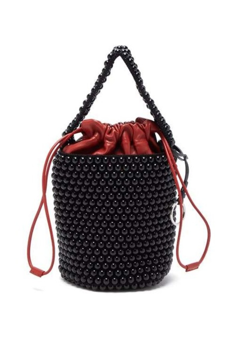 Jil Sander Beaded medium bucket bag