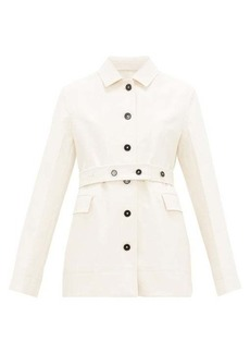 Jil Sander Belted cotton-moleskin jacket