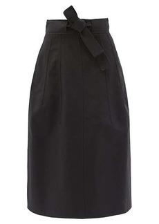 Jil Sander Belted cotton skirt