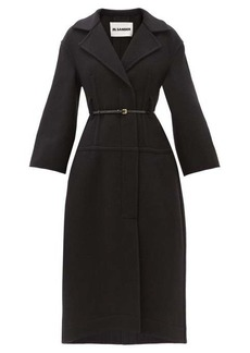 Jil Sander Belted double-breasted felted-wool coat