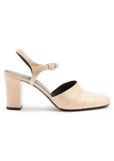 Jil Sander Block-heel leather pumps