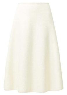 Jil Sander Bouclé cotton-blend skirt
