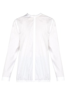 Jil Sander Button-back cotton-poplin shirt