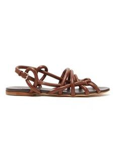 Jil Sander Caged rope-strap leather sandals