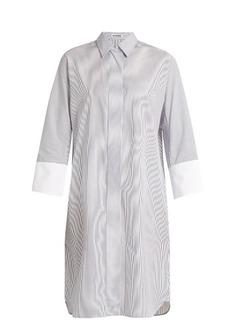 Jil Sander Canvas striped cotton shirtdress