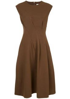 Jil Sander cinched waist midi dress - Brown