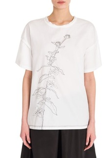 Jil Sander Classic Embroidered Tee