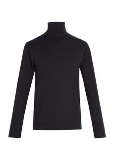 Jil Sander Classic roll-neck stretch-cotton top
