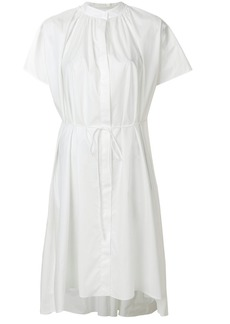 Jil Sander collarless shirt dress - White