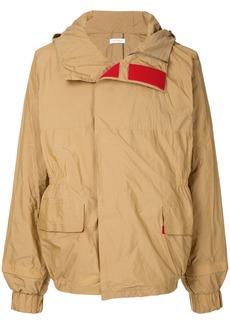 Jil Sander contrast touch-strap jacket - Brown