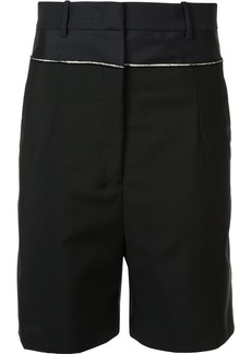 Jil Sander contrast trim shorts - Black