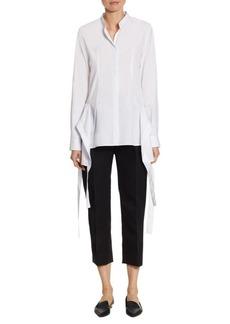 Jil Sander Cotton Poplin Ribbon Shirt