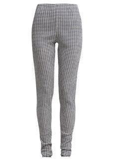 Jil Sander Crinkle gingham leggings