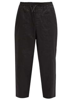 Jil Sander Cropped cotton-poplin trousers