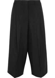 Jil Sander Cropped wool and mohair-blend wide-leg pants
