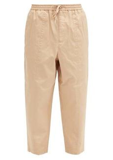 Jil Sander Drawcord-waist cotton-poplin cropped trousers