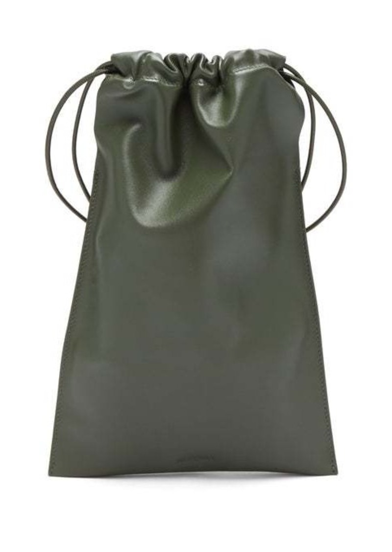 Jil Sander Drawstring leather cross-body bag