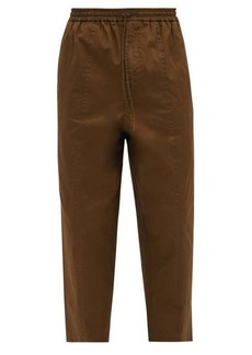 Jil Sander Drawstring-waist cropped cotton-poplin trousers