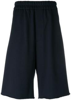 Jil Sander drop-crotch track shorts - Blue