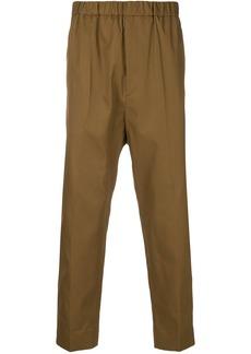 Jil Sander elasticated cropped trousers - Brown