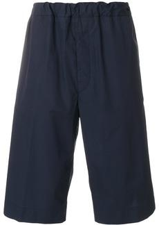 Jil Sander elasticated knee-length shorts - Blue