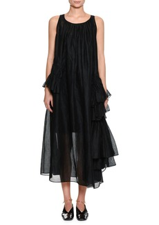 Jil Sander Emphasis Scoop-Neck Sleeveless Voluminous A-Line Dress