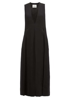 Jil Sander Envers V-neck matte satin dress