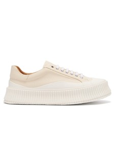 Jil Sander Exaggerated-sole canvas trainers