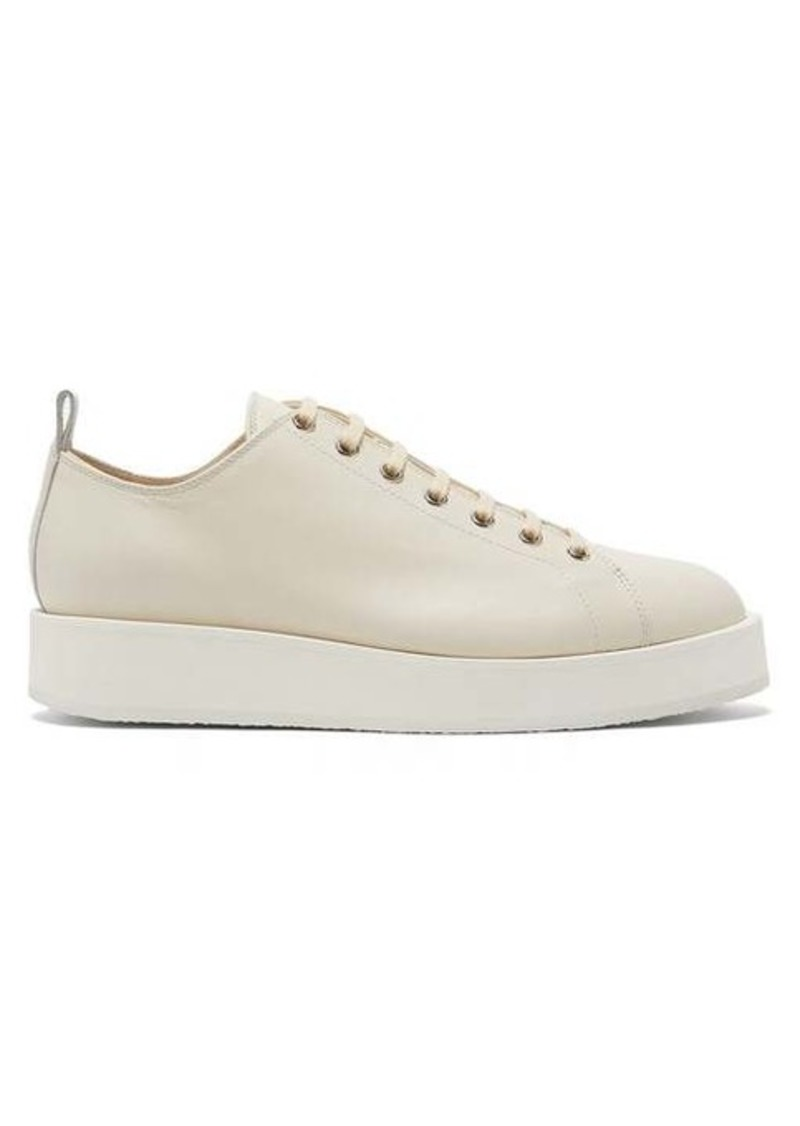 Jil Sander Exaggerated-sole leather trainers