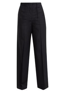 Jil Sander Fabio wool and mohair-blend trousers