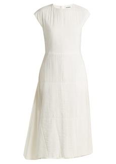 Jil Sander Fioretto silk-blend midi dress