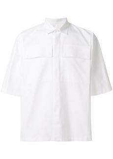 Jil Sander flap pocket short sleeve shirt - White
