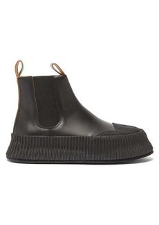 Jil Sander Flatform leather Chelsea boots