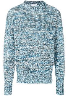 Jil Sander flecked knit sweater - Blue
