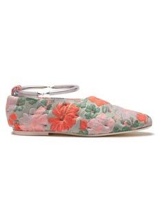 Jil Sander Floral brocade bracelet-strap flats