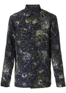 Jil Sander floral print shirt - Blue