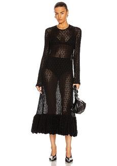 Jil Sander Flower Cotton Lace Dress