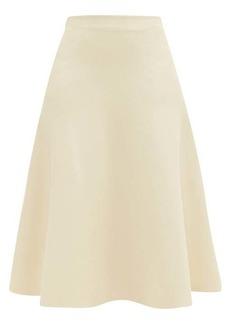 Jil Sander Fluid A-line knitted midi skirt