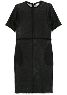 Jil Sander frayed hem shift dress - Black