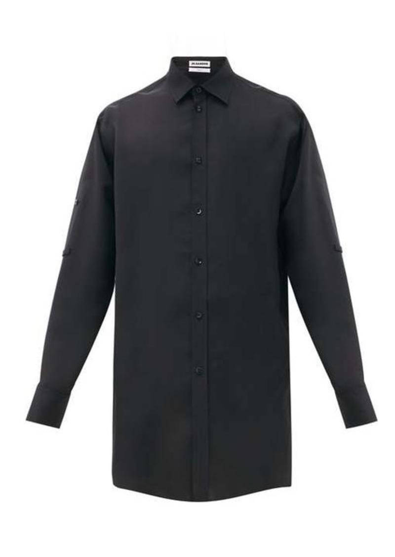 Jil Sander Friday P.M. longline twill shirt